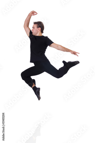 Dancer isolated on the white background