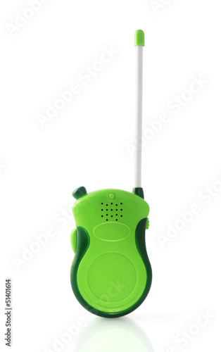 walkie talkie on white background