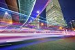 Quadro the light trails on the steet in shanghai china