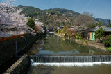 Arashiyama and Hozu river during cherry blossom in early April.