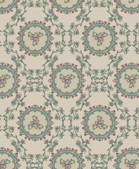 Vintage floral background, pattern