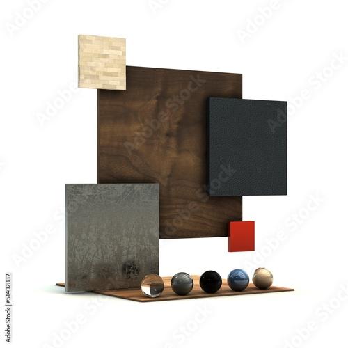 Décoration d'intérieur, illustration 3D