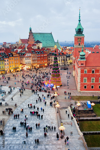 Castle Square in the Old Town of Warsaw