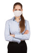 Stylish woman in protective medical mask