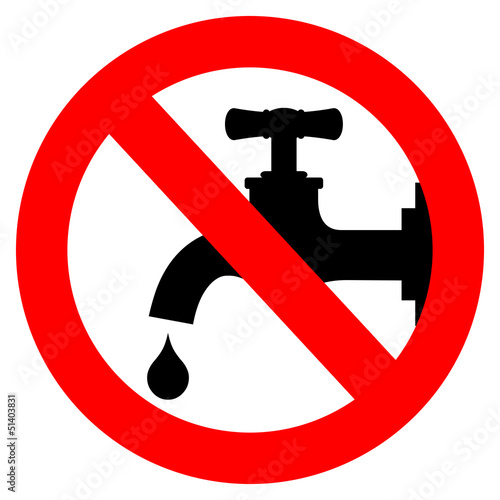 Save water, turn off tap