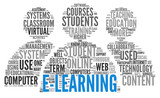 Fototapety E-learning concept in word tag cloud