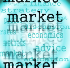 Market words background