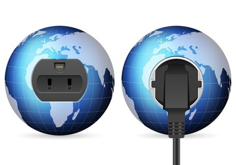 blue world globe outlet socket
