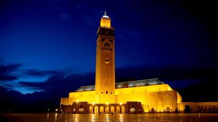 Hassan II Mosque in Casablanca. Morocco, Africa