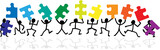 Fototapety stick figure jigsaw puzzle