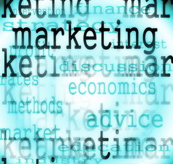 concept marketing words background