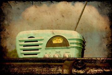Retroplakat - Altes Radio