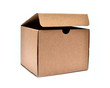Brown cardboard Box on White Background