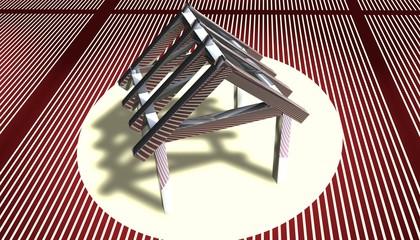 3D Grafik - Dachstuhl II