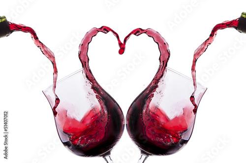 Deurstickers Wijn brindisi amoroso