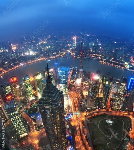 Bird view at Shanghai China. - 51407237