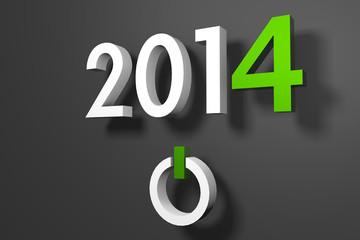 Jahr 2014 - Weiß und Grün