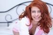 Seductive redhead girl