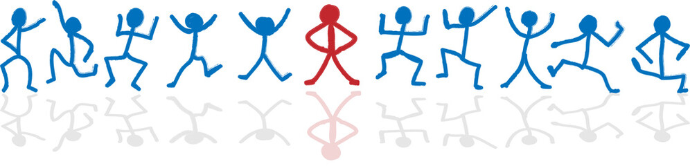 stick figure leader