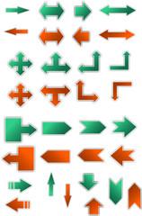 Set of color arrows