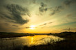 Pond at Sunset, Pilone, Ostuni, Italy.
