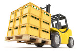 Forklift with drink crates