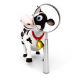 3d rendered toon character - funny cow