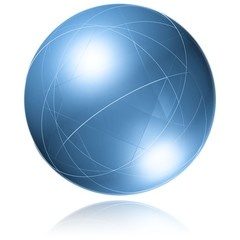 Vernetzung - Weltkugel - Symbol