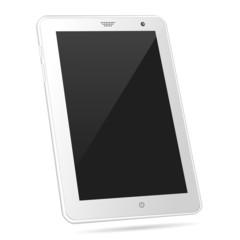 Tilted white tablet PC eps10 vector illustration
