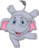 Fototapety Cute elephant circus