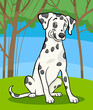 dalmatian purebred dog cartoon illustration