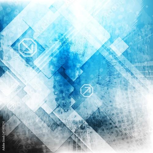Vector blue tech grunge backdrop