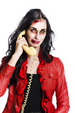 Zombie Woman on Telephone