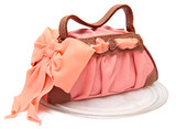 cake in cake form of a female bags. cake with mastic marzipan poster