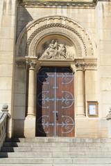 Perron de l'église de Lacenas, Beaujolais