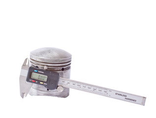 Digital caliper and piston of engine