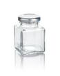 viereckiges Marmeladenglas