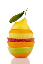 Verschiedne plasterki owoców