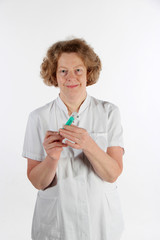 ältere Krankenschwester