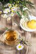 Herbal tea with camomile and lemons