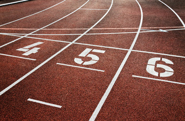 Leichtathletik Stadion Laufbahn Tartanbahn - Racetrack