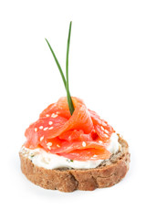 Canapes with salmon