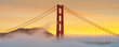Panorama of Golden Gate Bridge, San Francisco, California