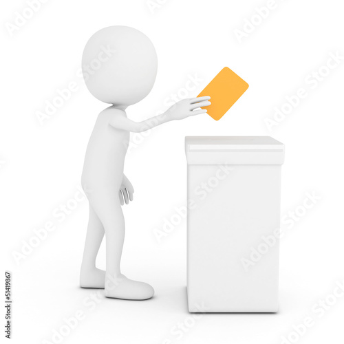 3d white man voting