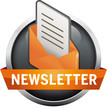 Button Newsletter grau mit Brief