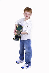 Young boy with a guitar