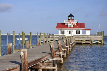 Roanoke Marshes Lighthouse in Roanoke Island, North Carolina