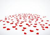 Fototapety Herzkonfetti liegend