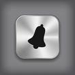 Bell icon - vector metal app button