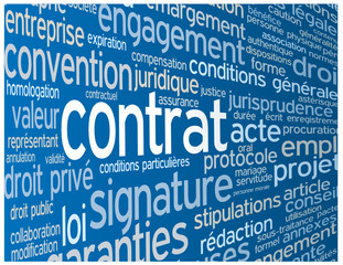 Nuage de Tags CONTRAT (accord signature conditions générales)